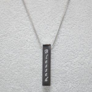 Vertical Silver Bar Necklace – Loved