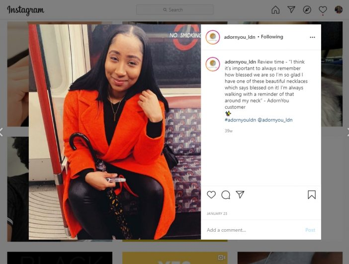 Instagram Testimonial